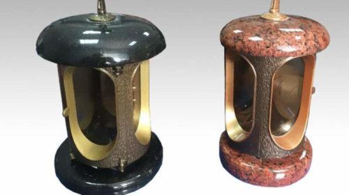 Гранитные лампады и подсвечники