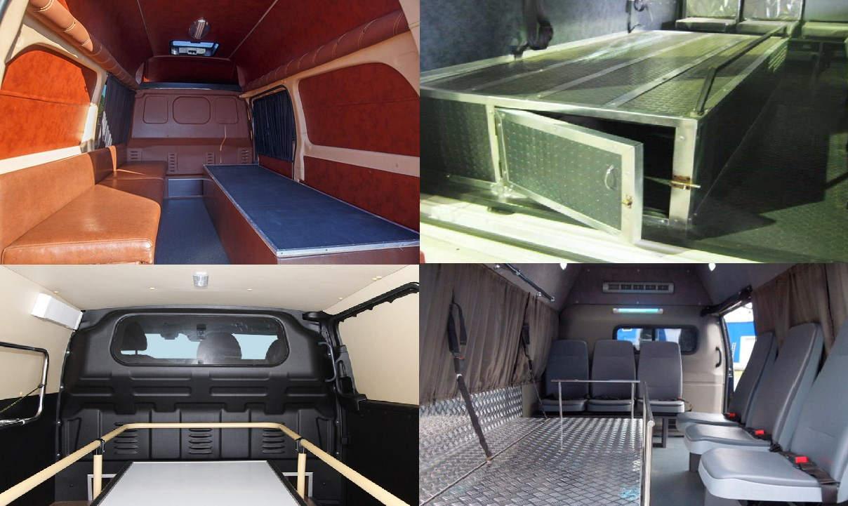 Внутри катафалка